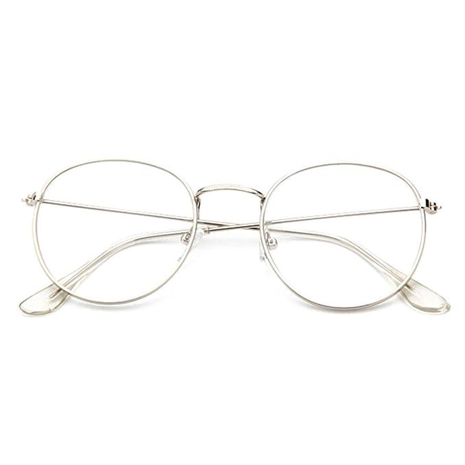 e4a6f6cbde Occhiali Rotondi Trasparenti - Occhiali in Metallo Montatura Moda ...