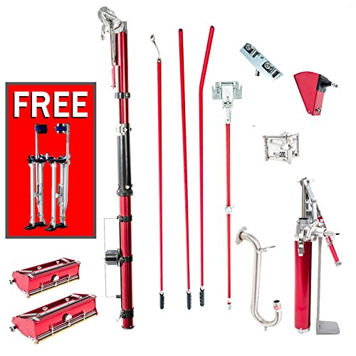 drywall+tools Products : Level 5 Full Set of Automatic Drywall Taping Tools with Stilts