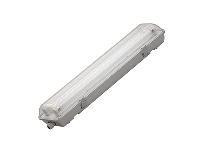 Plafoniera Tubo Led Esterno : Plafoniera stagna mm ip per tubo a led cm pc
