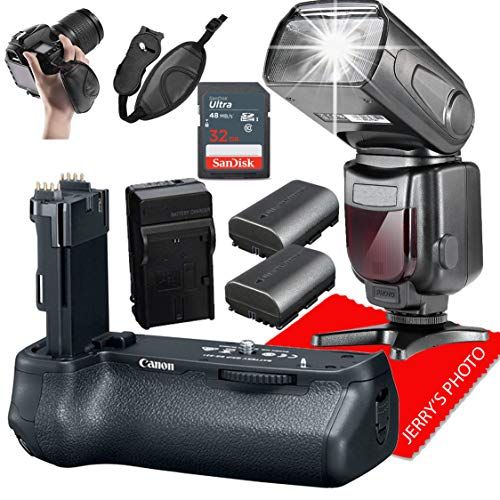 Canon BG-E21 Battery Grip for EOS 6D Mark II DSLR Camera + Professional Photography Bundle (8PCS)