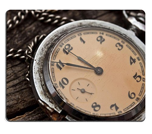 Price comparison product image MSD Mousepad Old pocket watch on a rustic vintage wooden background Image 34749312 Customized Tablemats Stain Resistance Collector Kit Kitchen Table Top DeskDrink Customized Stain Resist