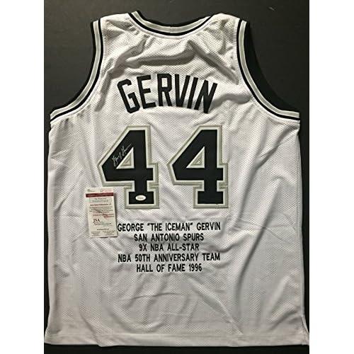separation shoes 73af8 a6def 85%OFF Autographed/Signed George Gervin San Antonio Spurs ...