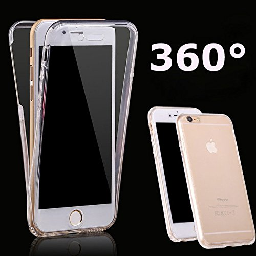 iPhone 6 360 Degree Case Clear All Round Full Body Coverage Soft TPU Front & Back 2pcs Case for iPhone 6 / 6s 4.7 Inch (Clear)