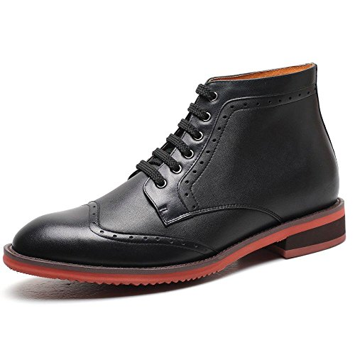 CHAMARIPA height Increasing Shoes 2.76 Taller Men Lace Dress Boots Elevator Shoes H61B25K011D 40F9K