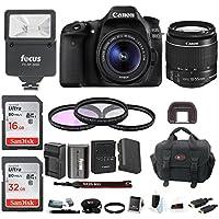 Canon EOS 80D Digital SLR w/18-55mm f/3.5-5.6 Lens & TTL Flash & 48GB Bundle
