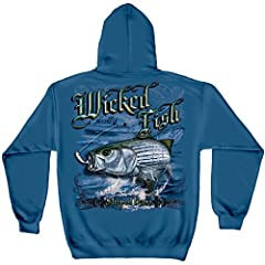 Show your love of all things fishing with our striped bass sweatshirts. Our fishing themed men's collection is a must have! Whether you are searching for a gift or the final piece to complete your wardrobe our fishing inspired clothing line i...