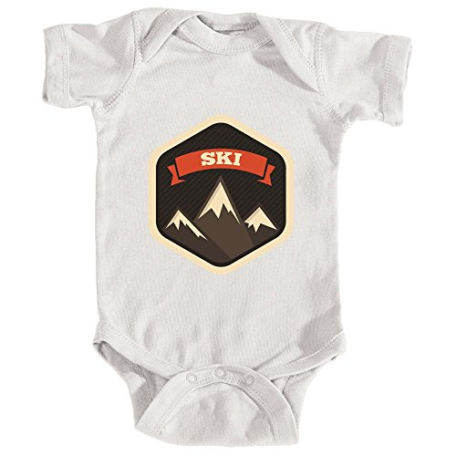 (Tenn Street Goods Ski Mountain Badge - Unisex Infant Baby Onesie/Bodysuit (NB,)