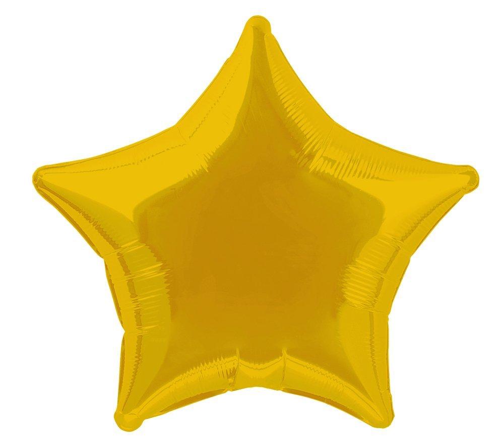 20 Foil Black Star Balloon Unique 53330