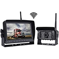 SVTCAM Digital Wireless Backup Camera Kit, IP68K Waterproof Wireless Rear View Camera + 7'' LCD Wireless Rear View Reversing Monitor for Trucks,Camping Cars,Vans,RVs,etc
