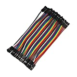 HESAI 120pcs 10cm Multicolored Dupont Wire 40pin Male to Female, 40pin Male to Male, 40pin Female to Female Breadboard Jumper Wires Ribbon Cables Kit for arduino