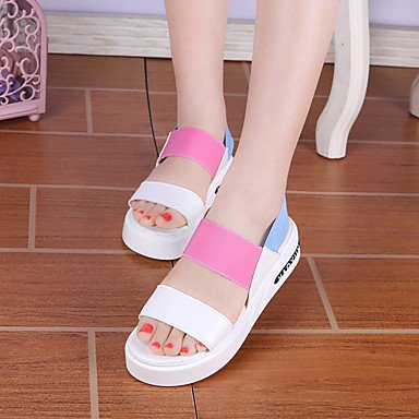 Comfort Spring Summer EU36 CN36 Women'S Fashion UK4 US6 Macth Platform Sandals All Color Flange Gore Casual RTRY Dress Block fqEItq