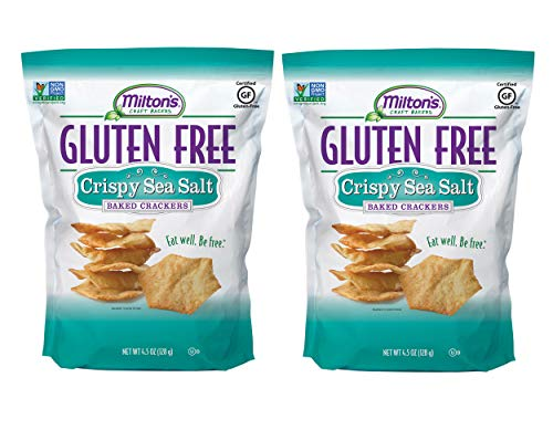 Milton's Gluten Free Crackers (Crispy Sea Salt). Crispy & Gluten-Free Grain Baked Crackers (Pack of 2, 4.5 ()
