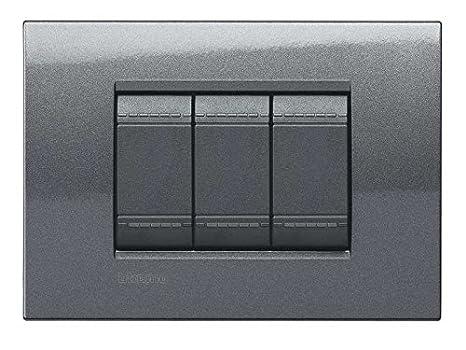 Bticino Living Light Placa de Interruptor, 3 Botones: Amazon.es: Bricolaje y herramientas