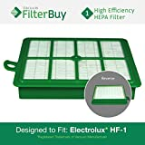 eureka 6991 - FilterBuy Eureka Electrolux Sanitaire Compatible Washable HF1 (HF-1) HF12 (HF-12) HEPA Filter, Part # 60286A, Designed by FilterBuy to fit Eureka Electrolux Sanitaire Canister Vacuum Cleaners.