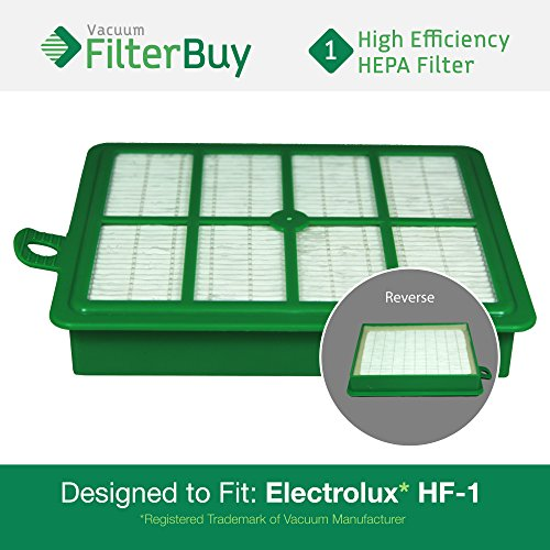 Eureka Hf1 Hepa Filter - FilterBuy Eureka Electrolux Sanitaire Compatible Washable HF1 (HF-1) HF12 (HF-12) HEPA Filter, Part # 60286A, Designed by FilterBuy to fit Eureka Electrolux Sanitaire Canister Vacuum Cleaners.