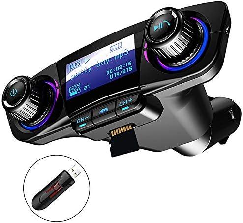 IPhoneのHuawei社XiomiハンズフリーレシーバーAUX / TFカードLCD用デュアルUSB車の充電器5V 2.1A FMトランスミッター携帯電話の充電器