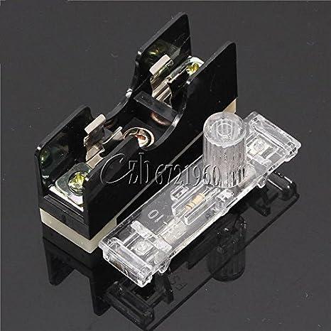 FS101 Fuse Socket with Indicator Light 10A Rail Style Fuse 6*30mm Fuse Socket