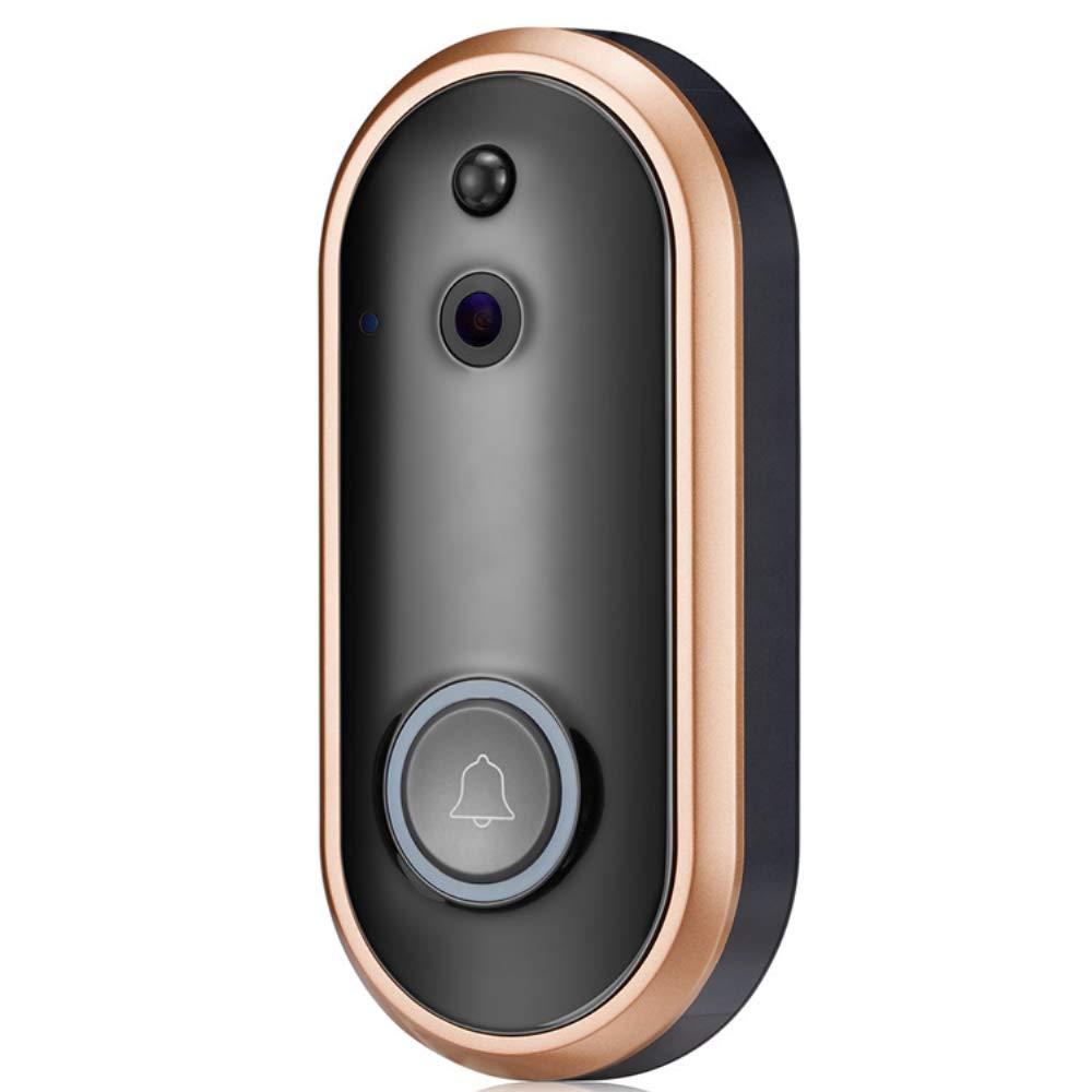COL PETTI Drahtlose Video-Türklingel, Mit Zwei-Wege-Audio, Home-Handy-Fernüberwachung Drahtlose WiFi-Cloud-Speicher Tür-Home-Sicherheits-Türklingel-Kamera
