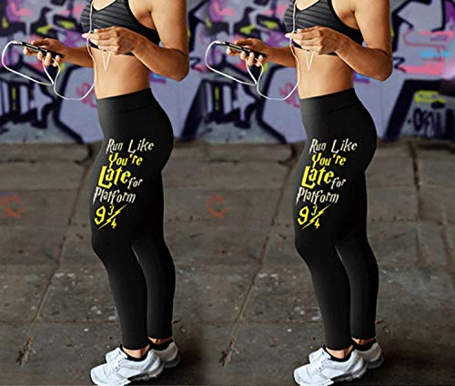Closer-to-U Girls Workout Fitness Leggings Leeter Print ...