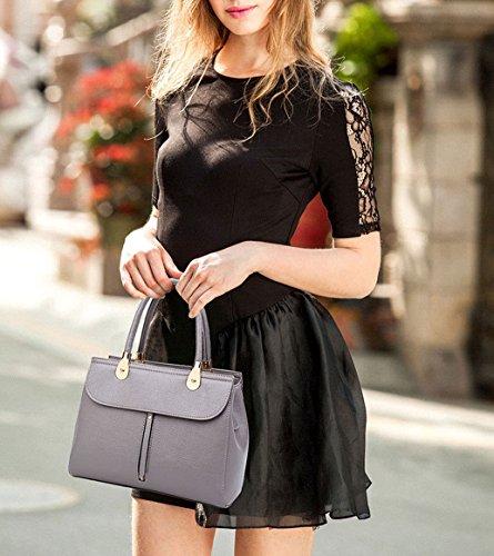 y clutches de mano bolsos de Carteras Gris y hombro Mujer Bolsos Shoppers bandolera 5qPFaSf