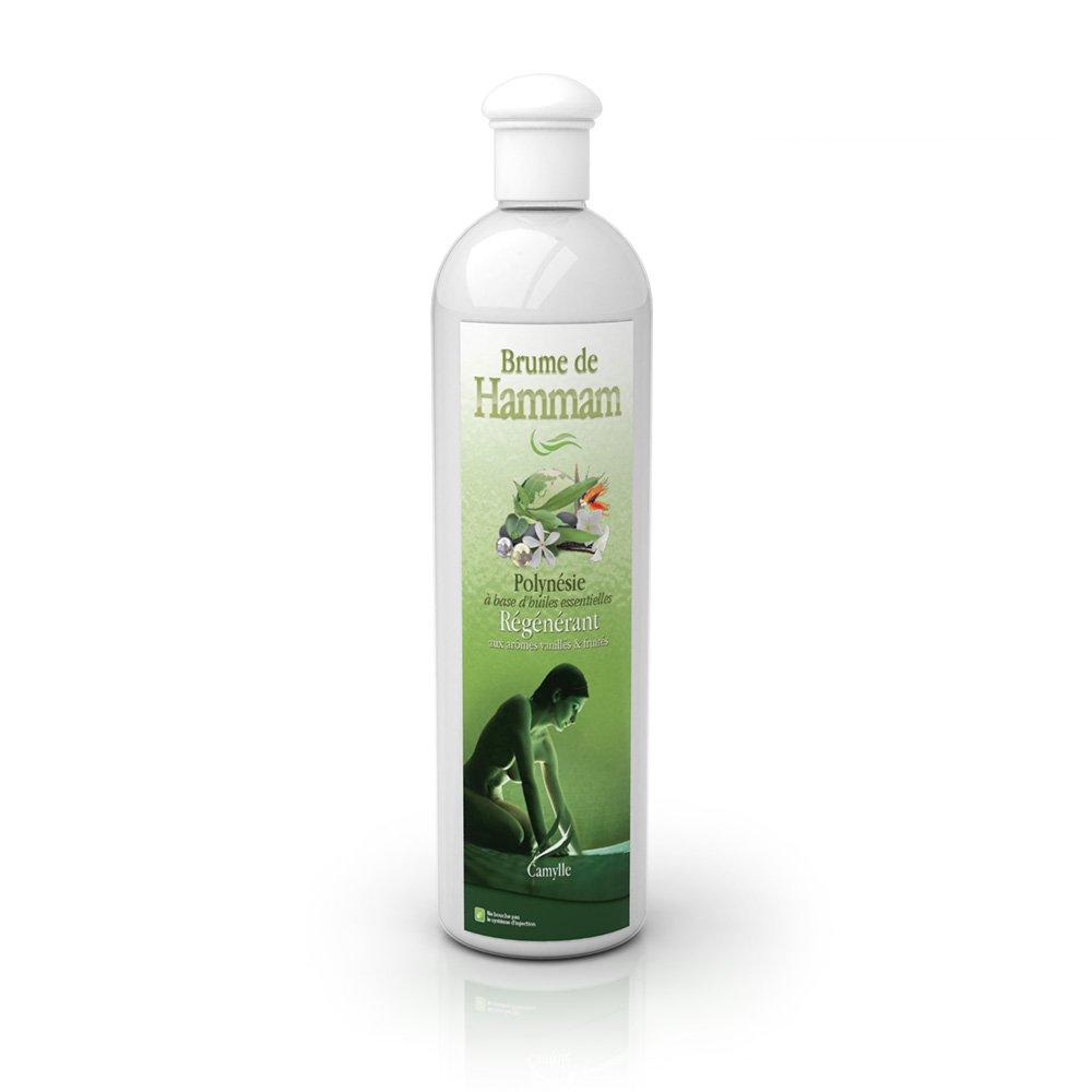 Camylle - Brume de Hammam - Emulsion d'huiles essentielles pour Hammam - Polyné sie - Ré gé né rant - 500ml