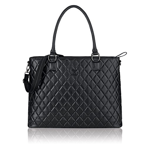 Solo Waldorf Tote with 15.6 Inch Laptop Compartment, Black by SOLO