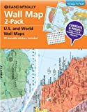 Wall Map 2-Pack, Rand McNally, 0528006657