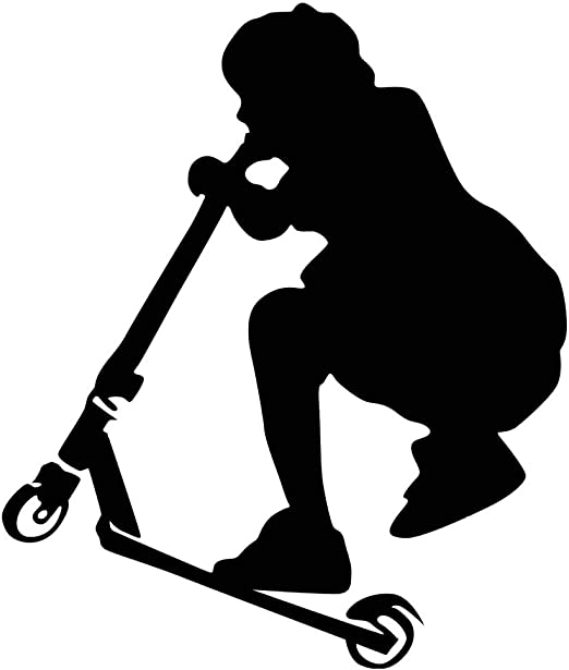 Stunt Scooter Vinyl Wall Decal Sticker Boys Room Bedroom Decor Kid Sports Boy