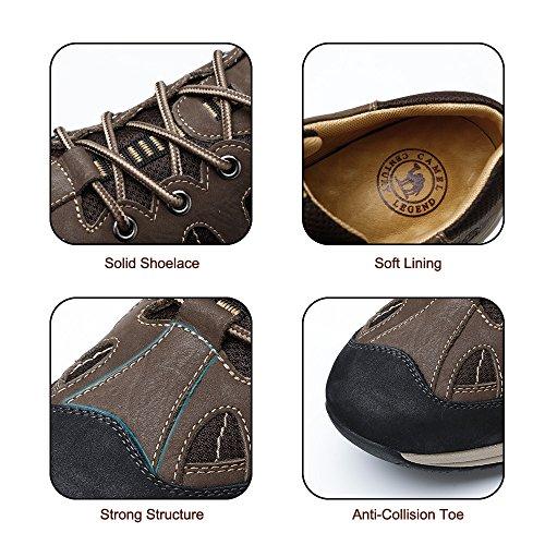 Cammello Mens Moda Sneakers In Pelle Leggera Scarpe Casual Da Passeggio Sportive Da Corsa Trekking Trekking Marrone