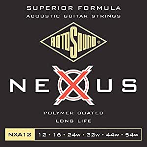 rotosound nxa12 nexus coated phoshor broze acoustic guitar strings 12 16 24 32 44. Black Bedroom Furniture Sets. Home Design Ideas