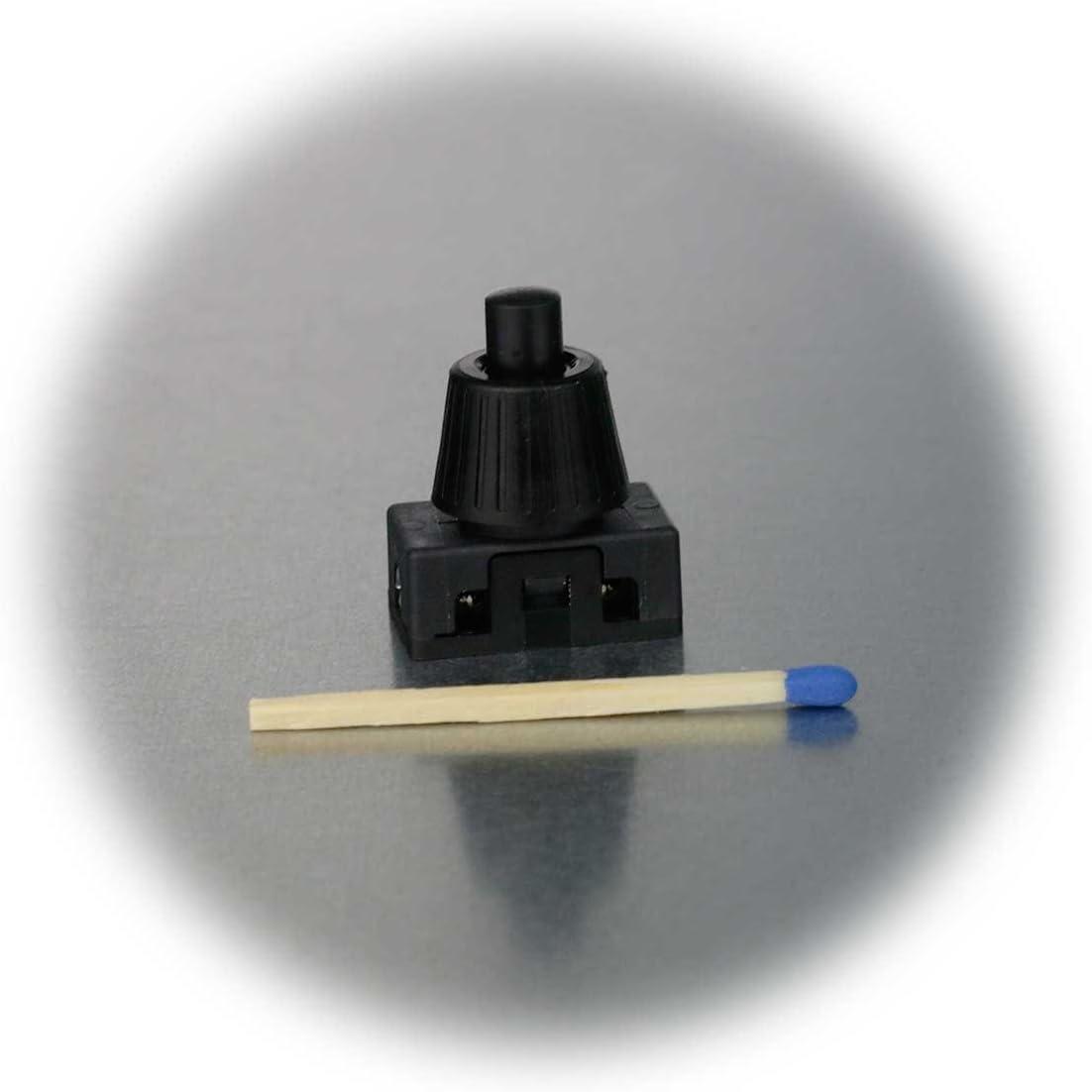 Druckschalter EIN//AUS 23V//2A schwarz 1-polig