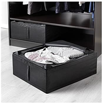 ikea skubb underbed storage box black 2 pack