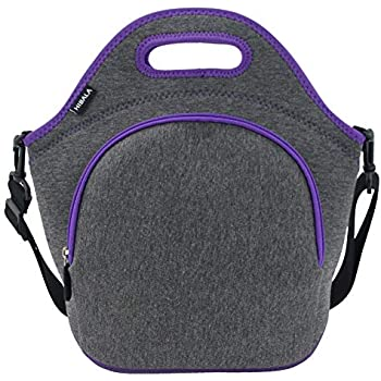 Hibala Neoprene Lunch Tote Bag For Women&Men-With Zipper-Keeping Food Cold/Warm 4 Hours-12.5