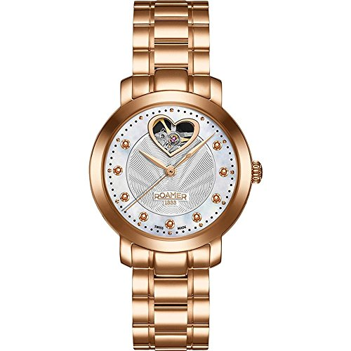 Roamer of Switzerland Women's 34mm Rose Gold Plated Bracelet & Case Automatic Analog Watch 556661 49 19 50