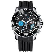 JIUSKO Deep Sea Series Men's Quartz Multifunction Silicone Dive Watch 71LSB1302 by JIUSKO