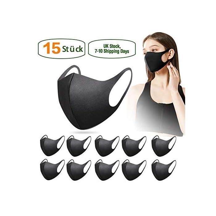 51kVjdqgrWL 【Material permeable】: Hecho de poliuretano de alta calidad, transpirable, a prueba de viento, absorbe el sudor, cómodo y agradable para la piel. 【Adecuado para casi todo el mundo】: lo suficientemente ancho como para cubrir la nariz, la boca y la cara. Los materiales suaves y cómodos no dejan marcas en el rostro cuando se quitan. 【Uso versátil】: mantiene el polvo alejado hasta en un 99%; filtra eficazmente el polvo, el polen, el humo y para pintar, correr, andar en bicicleta, practicar deportes, hacer senderismo y otras actividades al aire libre.