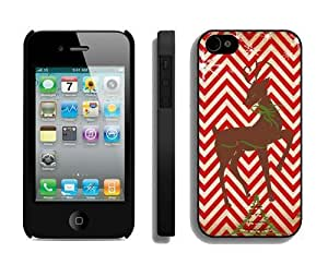 iphone covers 2014 New Style iPhone 5 5s Protective Skin Case Chevron Christmas Deer Iphone 5 5s Case 2 Black
