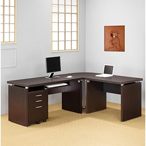 Coaster Home Furnishings 800892 Contemporary Desk, Cappuccino