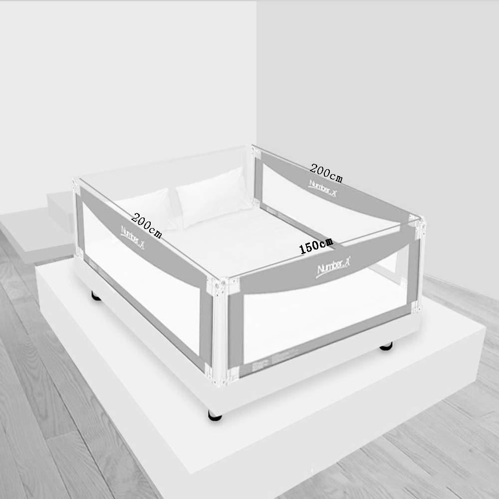 DD ベビー&マタニティ/ベビー布団寝具/ベッドガードフェンス, ベッドフェンス3面ラージベッドバッフルドロッププロテクションフェンス垂直リフトユニバーサルバッフル -子供を守る (サイズ さいず : D-200X200X150cm) D-200X200X150cm  B07KN9CHQ2