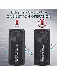 Grabadora de voz ultrapequeña digital, dictáfono activado por voz con 24 horas de tiempo de grabación, Negro