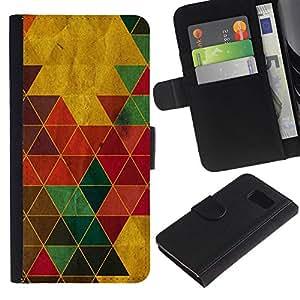All Phone Most Case / Oferta Especial Cáscara Funda de cuero Monedero Cubierta de proteccion Caso / Wallet Case for Samsung Galaxy S6 // Color Triangles