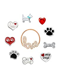 Love My Dogs Paw Sale Cheap New 10 Pcs Floating Charms For Glass Living Memory Lockets Necklace & Bracelets