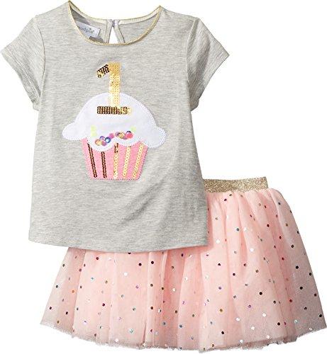 Pie Tutu (Mud Pie Baby Girls First Birthday Two Piece Set Tutu, Gray, 12-18 Months)