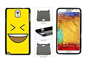 Bright Yellow Evil Grin with Teeth Smiley Face Plastic Phone Case Back Cover Samsung Galaxy Note III 3 N9002