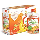 Happy Tot Organic Stage 4 Baby Food Love My Veggies Carrot Banana Mango & Sweet Potato, 4.22 Ounce Pouch (Pack of 16) Organic Baby/Toddler Food, Fruit & Veggie Blend, Full Serving of Vegetables