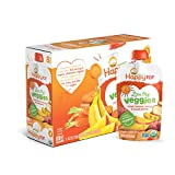 Happy Tot Organic Stage 4 Baby Food, Love My Veggies, Carrot, Banana, Mango & Sweet Potato, 4.22 Ounce (Pack of 16)