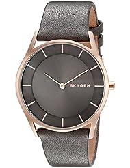 Skagen Womens SKW2346 Holst Grey Leather Watch