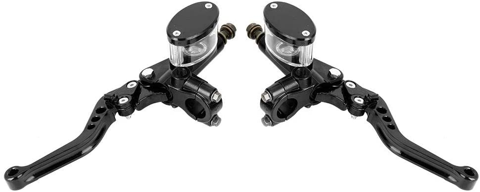 1 Pair of 7//8in Aluminum Alloy Master Cylinder Reservoir Hydraulic Brake Clutch Lever Acouto Motorcycle Hydraulic Master Cylinder Clutch Lever