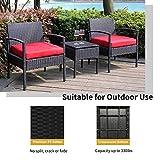 Outdoor Chairs Set Bistro Set 3 Pieces Patio