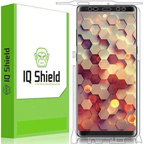 Galaxy Note 8 Screen Protector, IQ Shield LiQuidSkin Full Body Skin + Full Coverage Screen Protector for Galaxy Note 8 HD Clear Anti-Bubble Film